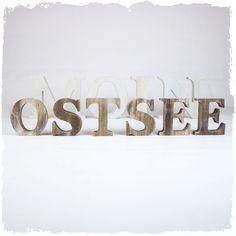 Ostsee Holzbuchstaben natur/braun >>