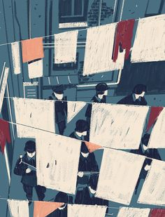 Matteo Berton's considered illustrations of a Nazi raid on a Jewish community