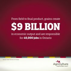 Agriculture is important to the Canadian economy