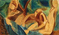 Pablo Picasso. Swimming. 1908