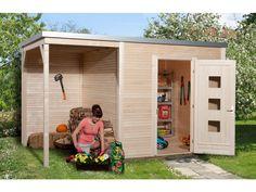 Das WEKA Designhaus wekaLine 413 A Gr. 1 ist mit 45 mm starken Blockbohlenwänden und einem 150 cm breiten, seitlichen Anbau ausgestattet. Die massiven Holzblockbohlen und die extra stabilen Eckverbindungen sorgen für die richtige...