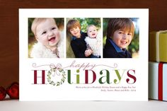 Red Holiday Holiday Photo Cards by Gakemi Art+Design at minted.com
