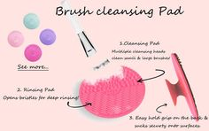 New Arrival Makeup Brush Cleaner tools ----Wash Gloves and Scrubbing pad