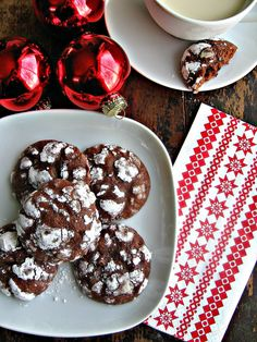 sweetsugarbean: Double Chocolate Espresso Crackle Cookies