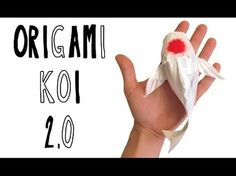 Origami koi tutorial by Riccardo Foschi Origami Ball, Diy Origami, Origami Koi Fish, Origami Frog, Origami And Kirigami, How To Make Origami, Origami Butterfly, Paper Crafts Origami, Origami Flowers