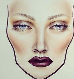 Makeup | Face charts #beauty #facechart