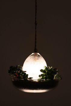 Part planter, part grow-light.  Handmade in California by Carmen Salazar.