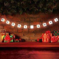 Xmas Scrabble Light Set of ten string lights with 60 interchangeable letter NEW | eBay
