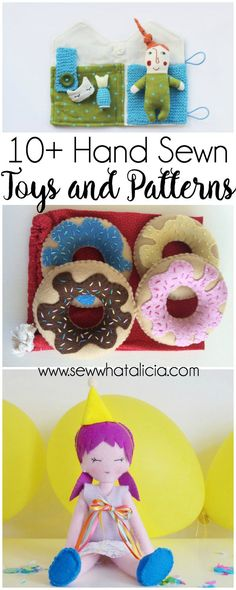 10+ Hand Sewn Toys and Patterns for Kids : Whether you want to buy a toy that is already made or get a pattern to make your own hand sewn toys this is the post for you. Click through for a full list of hand sewn toys and patterns for kids. | www.sewwhatalicia.com