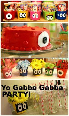 Yo Gabba Gabba birthday party!  Lots of great ideas.