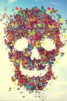 Butterflies Skull.