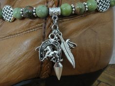 Boot Bling Bracelet-boot chain-boot jewelry Olive by VLSArtistry