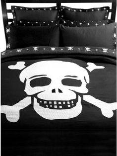 """Skull"" Duvet Cover by Sin In Linen"