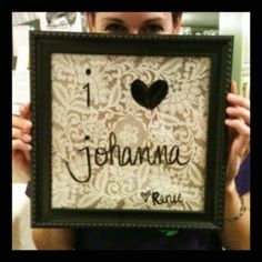 Homemade dry erase boards with my friend Johanna! Super cute and easy to make.  Just put some pretty scrap-booking paper inside a picture frame.