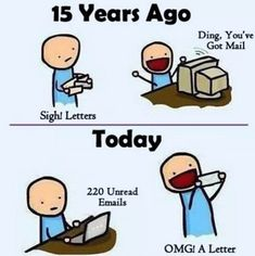 Friday afternoon humor... This is sad but true! Make letter writing cool again! Do you send hand written cards? Post a pic here or Tag us on Instagram #jamletters ! We'd love to see more letters and cards being sent! #letters #letterwriting #jampaper #cards #envelopes #humor #officehumor #sadbuttrue #thetruth #funny #oldschool