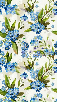Uploaded by Agustina Rubio. Find images and videos about blue, flowers and wallpaper on We Heart It - the app to get lost in what you love. Flower Background Wallpaper, Flower Backgrounds, Wallpaper Backgrounds, Iphone Wallpaper, Wallpapers, Motif Floral, Floral Prints, Art Prints, Textures Patterns