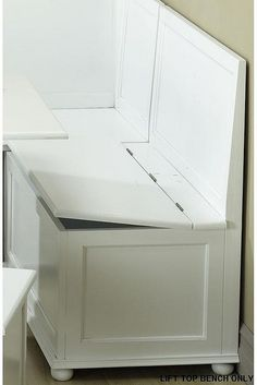 Storage under breakfast nook seats!