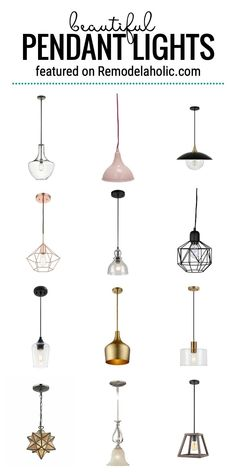 Beautiful Pendant Lights For Your Home And How To Style Them Featured On Remodelaholic.com #lightfixtures #pendantlights #homedecor #lights