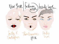Beauty Look illustration / New York fashion week Spring-Summer 2016 // by Open Toe www.opentoeillustration.com