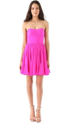 Rebecca Taylor Perfect Fit Strapless Dress- the perfect pink.
