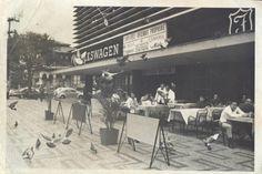 Restaurante Fasano no Conjunto Nacional, que se tornou um marco na famosa avenida. (anos 60)