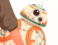 """Check out new work on my @Behance portfolio: """"Rey and BB8"""" http://be.net/gallery/32711147/Rey-and-BB8"""