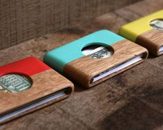 Oak and Mint Wooden Wallet available @ Wantcy.com