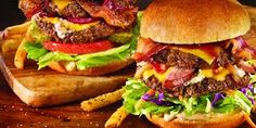 We're delivering delicious burgers from TGI Friday's! Paleo Burger, Tgi Fridays, Delicious Burgers, Fast Food Restaurant, American, Hamburger, Delish, Recipies, Ethnic Recipes
