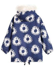 Daisy Print Hooded Coat