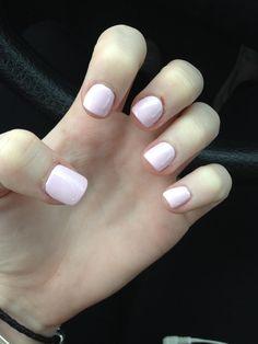 Super short light pink acrylic nails