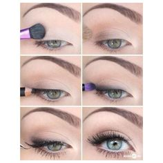 Best Eye Makeup Tutorials Everyday And Bridal Prom And Special... ❤ liked on Polyvore featuring beauty products, makeup and eye makeup