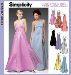 Simplicity Dress Patterns | Patterns › Simplicity › 5096 Formal dress, Design your own