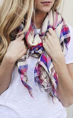 preppy tartan fringe scarf Get 15% off + Free Shipping off when you use code 'RiffraffRepLauren' at checkout on ShopRiffraff.com