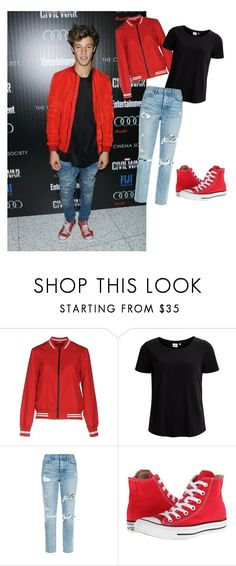 """""""Cameron Dallas Inspired 2"""" by cnsaunders ❤ liked on Polyvore featuring Calvin Klein, Jacqueline De Yong, Object Collectors Item, GRLFRND and Converse"""