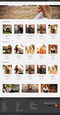 Best Prestashop themes: Autumn - #prestashop #ecommerce #theme