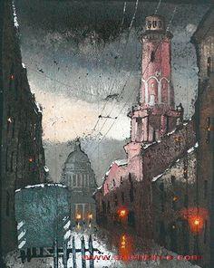 Paintings in unique authors technique. Artist Eugeny Shishkin. Saint-Petersburg 2011