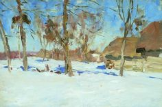 Early March (1900) by Isaac Levitan