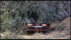 Batmobile exiting secret entrance of Batcave - Batman 1966 Batman Show, Batman Tv Series, Batman Batcave, Batman 1966, Batman Facts, Griffith Park, Classic Image, Trivia, Fun Facts