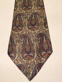 NEW Polo by Ralph Lauren Paisley 100% Silk Multi Color Classic Mens Neck Tie #PoloRalphLauren #NeckTie
