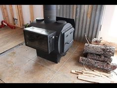 Seasoning the woodstove - YouTube