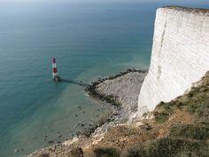 Beachy Head and Beachy Head Lighthouse, East Sussex, England.