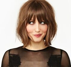 32 Layered Bob Hairstyles : Add These Hot Layers to Your Haircut Now - Style My Hairs Short Hair With Bangs, Hairstyles With Bangs, Short Hair Cuts, Pretty Hairstyles, Shaggy Bob Hairstyles, 80s Hairstyles, Pixie Cuts, Bride Hairstyles, Hairstyle Ideas