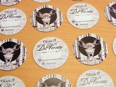 Exemple Dimpression Dune Carte De Visite Ronde Recto Verso Pour Une Graphiste