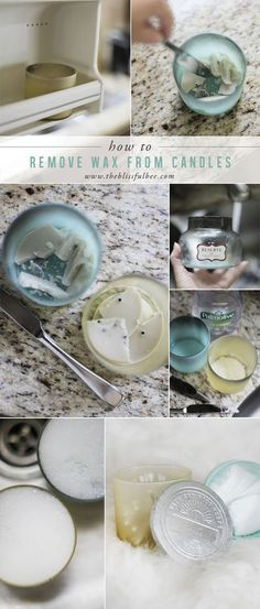 Discover how to remove the wax from glass candles to reuse the containers!