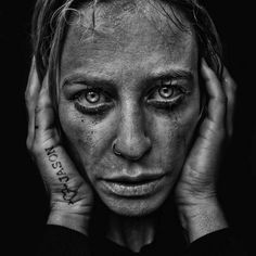 album bloodtobone now released in the U. Check it out on iTunes. Face Reference, Drawing Reference, Black And White Portraits, Black And White Photography, Black And White Face, Homeless People, Lee Jeffries, Check It Out, Fantasy Characters