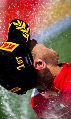 2017/8/4:Twitter:@sebvettelnews: ☝️ @vladimirrys #HungarianGP #F1 #Vettel #Seb5