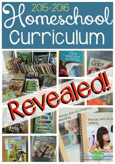 Our 2015-2016 Homeschool Curriculum Revealed! by Raising Clovers - Come & see what curriculum we are using in our homeschool this year! Lots of great stuff! I even have a video for you to hear me talk about how we use it all -- & why!! You are going to love this post & video! http://www.raisingclovers.com/2015/08/06/homeschool-curriculum-revealed/