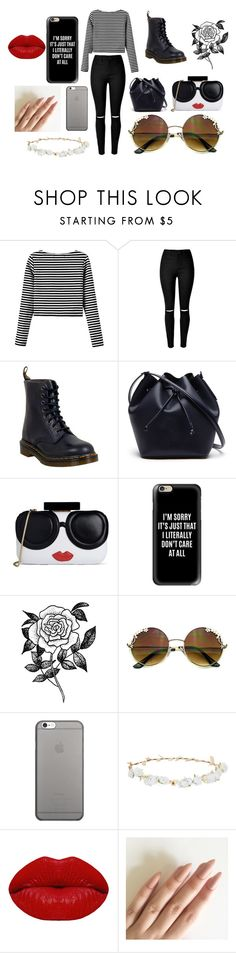 """""""meeting 5sos part 2"""" by aniapenguin on Polyvore featuring Dr. Martens, Lacoste, Alice + Olivia, Casetify, Forever 21, Native Union, Robert Rose and Winky Lux"""