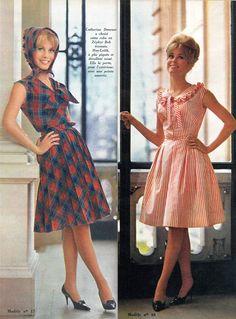 Catherine #Deneuve et tendance #mode du prêt-à-porter féminin. Jours de France, 30/04/1962