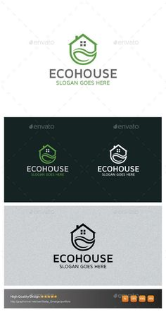 EcoHouse (JPG Image, Vector EPS, AI Illustrator, Resizable, CS, agency, architecture, at, clean, cleaning, commercial, corporate, decor, design, eco, elegant, home, horizontal, house, logo, minimalism, modern, nature, premium, professional, property, real estate, resort, service, simple, square, store, strong, symbol, template)